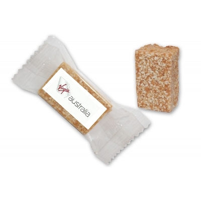 Picture of Individually wrapped Sesame & Honey Healthy Bite 23g with label