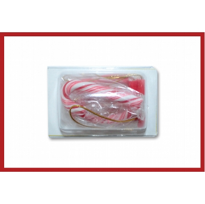 Picture of Biz card treat with mini candy canes