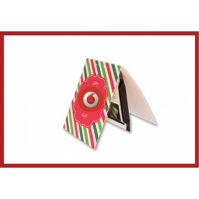 Picture of Mini Christmas Card with Lindt Chocolate