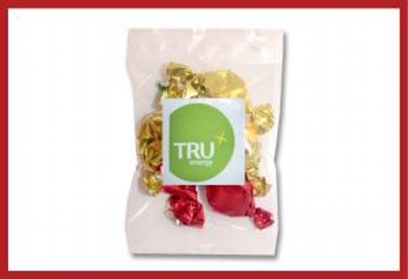 Picture of Christmas Toffees 30g cello bag with label