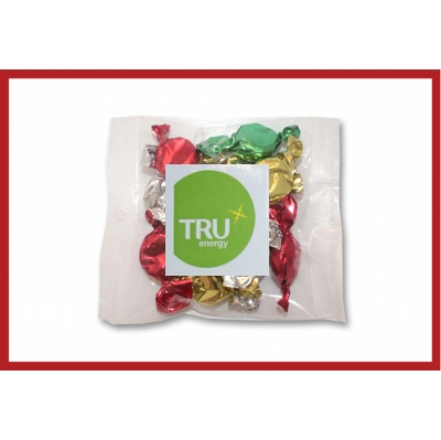 Picture of Christmas Toffees 50g cello bag with label