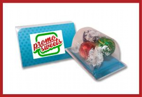 Picture of Biz card treat with lindor balls