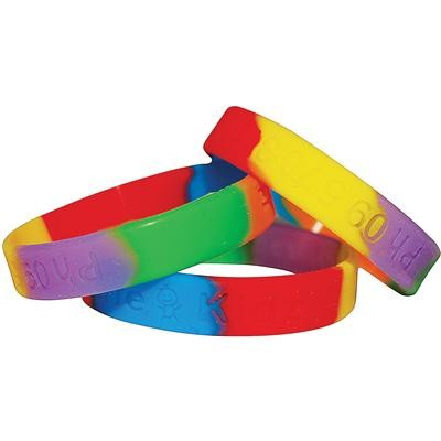 Picture of Sectional Colour Wristbands - debossed