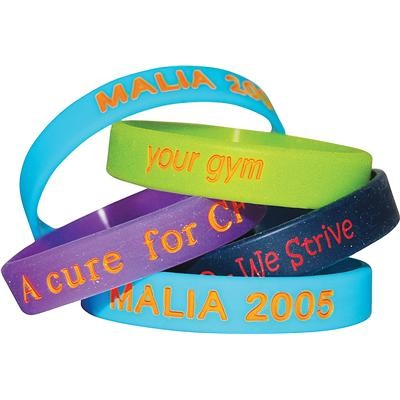 Picture of Colour Filled Wristbands - debossed