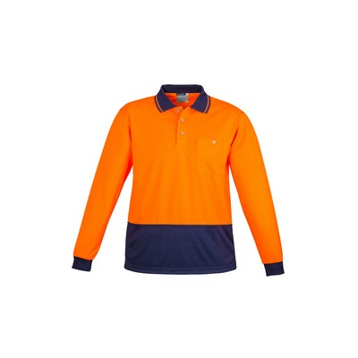 Picture of Unisex Hi Vis Basic Spliced Polo - Long Sleeve