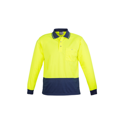 Picture of Hi Vis Basic Spliced Polo - Long Sleeve