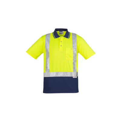 Picture of Hi Vis Spliced Polo - Short Sleeve Shoulder Taped