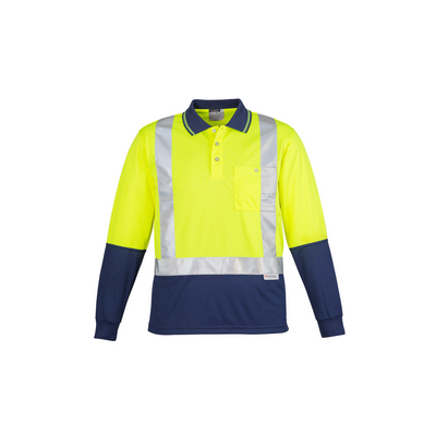 Picture of Hi Vis Spliced Polo - Long Sleeve Shoulder Taped