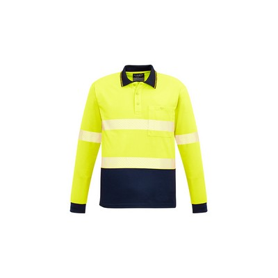 Picture of Unisex Hi Vis Segmented L/S Polo - Hoop Taped