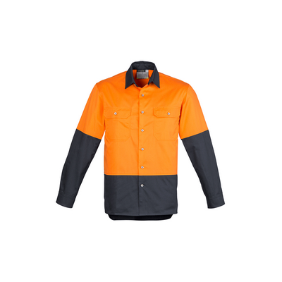 Picture of Mens Hi Vis Spliced Industrial Shirt