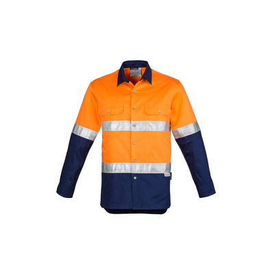 Picture of Mens Hi Vis Spliced Industrial Shirt - Hoop Taped