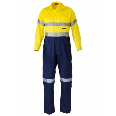 3M Taped Two Tone Hi Vis Lightweight Coverall