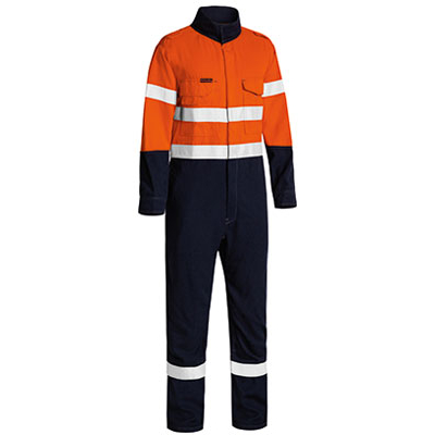Tencate Tecasafe Plus Taped  Two Tone Hi Vis Lightweight Fr Non Vented Engineered Coverall