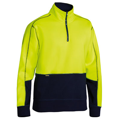 Hi Vis Fleece Zip Pullover