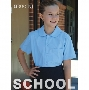 Girls Peter Pan Short Sleeve School Shirt