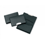 Premium Leather Card Holder with Silver Trim