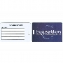 Luggage Tag Standard - Plastic Credit Card Style with Slot - INDENT