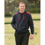 Adults Close Front Contrast Fleece Hoodie