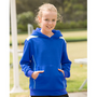 Kids Close Front Contrast Fleece Hoodie