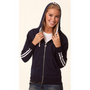 Ladies Contrast French Terry Hoodie