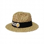 Paper Straw hat with material under the brim