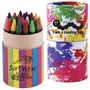 Custom Design Assorted Colour Crayons in