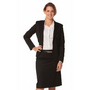 Ladies Poly/Viscose Stretch One Button Cropped Jacket