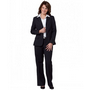 Ladies Poly/Viscose Stretch Two Buttons Mid Length Jacket