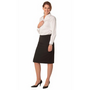 Ladies Poly/Viscose Stretch Stripe Mid Length Lined Pencil Skirt