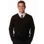 Mens V-Neck Long Sleeves Jumper