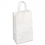 Kraft Paper Bag White Medium Includes Twisted Paper Handle