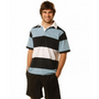 Mens Short Sleeve 3 Tone Rugby Top