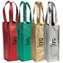 Metallic Single Bottle Wine Tote