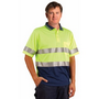 High Visibility Short Sleeve Safety Polo 3M Reflective Tapes