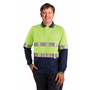 Mens TrueDry Safety Long Sleeves Polo with 3M Reflective Tape