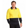 Hi-Vis Cotton Two Tone Long Sleeve Safety Polo