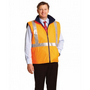 Hi-Vis Reversible Safety Vest With X Pattern 3M Reflective Tapes Shell 100% Polyester Oxford 300 D w