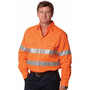 Mens High Visibility Regular Weight Long Sleeve Drill Shirt