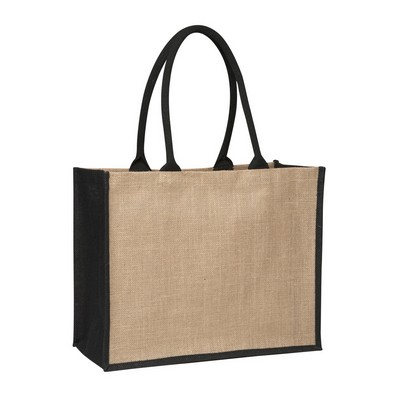 Picture of Contrast Black Laminated Jute Supermarket Bag (Warehouse Stock)