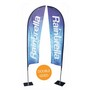 Extra Large Teardrop Banner - Double Sided Combo
