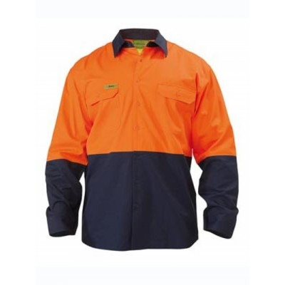 Insect Protection Two Tone Cool Lightweight Vented Drill Shirt - Long Sleeve