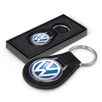 Picture of Baron Round Leather Key Ring