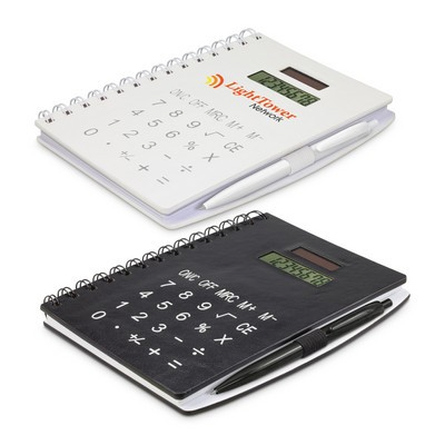 Picture of Notebook with Calculator