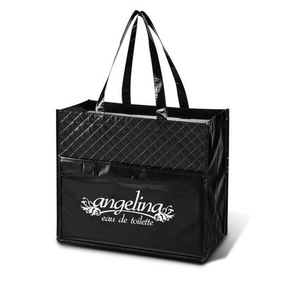 Picture of Quilted Laminated Diamond Tote