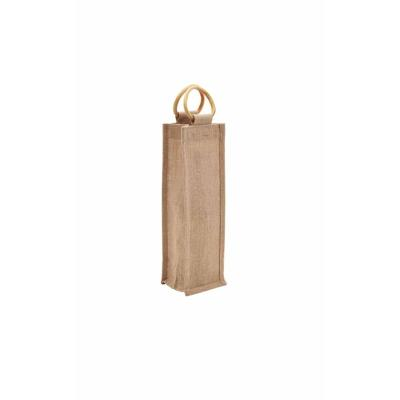 Picture of 1 Bottle Jute Bag with Cane Handle