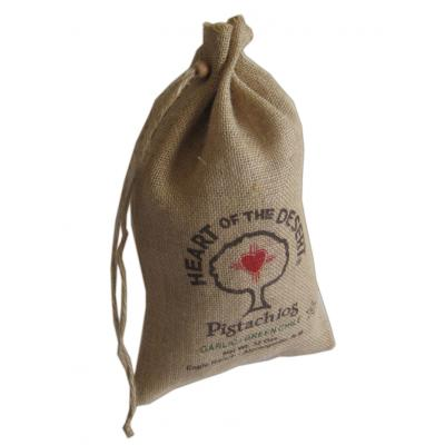 Picture of Jute Drawstring Pouch - Medium