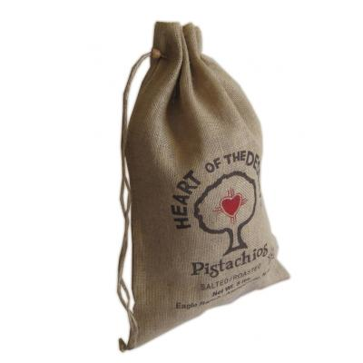 Picture of Jute Drawstring Pouch - Large