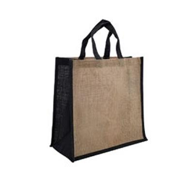 Picture of Jute Large Carry Bag Natural/Black