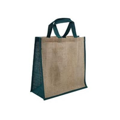 Picture of Jute Large Carry Bag Natural/Green