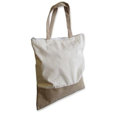 Picture of Jute and Cotton 2 Tone Bag
